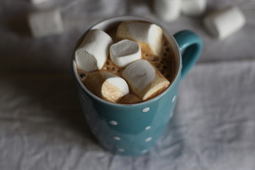 Маршмеллоу, кофе, зефир