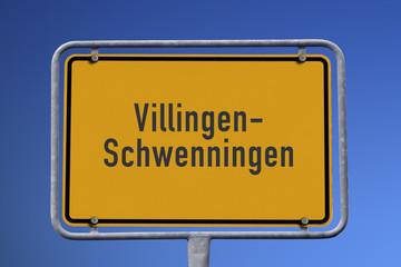 Ortseingangsschild Villingen-Schwenningen