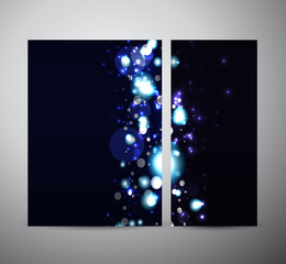 Abstract bokeh. Brochure business design template or roll up