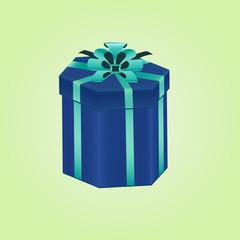 Blue gifts box