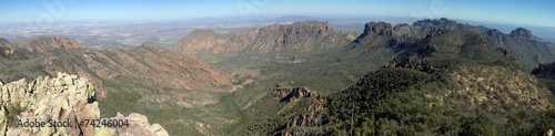 canvas print picture Chisos Mountains in Big Bend National Park