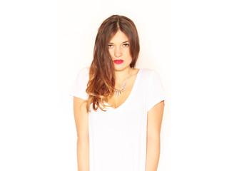 Frau in weißem Shirt