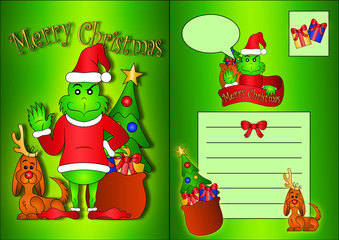 The Grinch Post Card