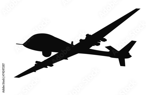 Drone flying vector silhouette. EPS 8 - 74247287