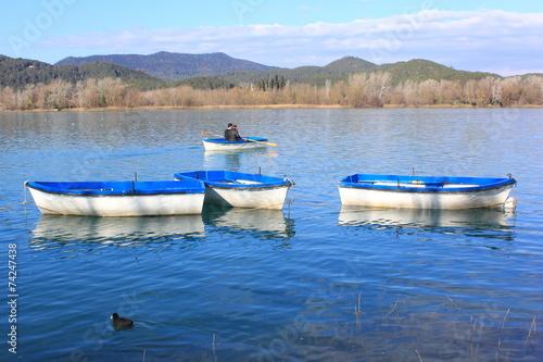 Fotobehang vive le canoë