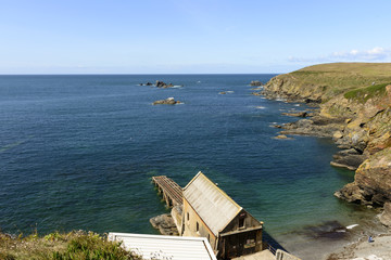 Polpeor bay Life Boat station at Lizard point, Cornwall