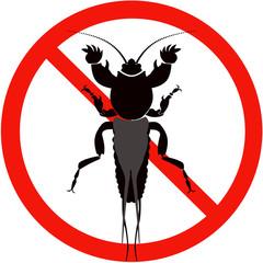 mole cricket silhouette