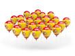 Obrazy na płótnie, fototapety, zdjęcia, fotoobrazy drukowane : Balloons with flag of spain