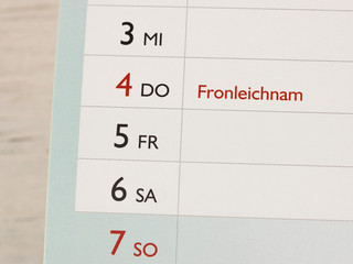 Fronleichnam - Feiertag - Brückentag - Wochenende - Kurzurlaub