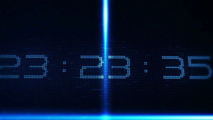 Technology style countdown for the new year