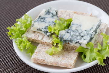 Roquefort on a slices of toast