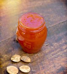 Apricot jam Iin jar