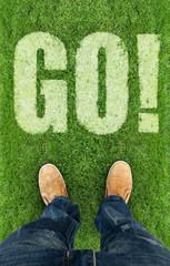 man on a grass