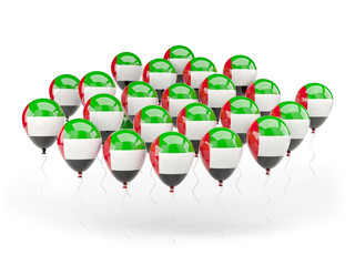 Balloons with flag of united arab emirates