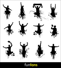 Silhouettes for advertising banner