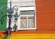 Detail of a window in la Boca, Buenos Aires