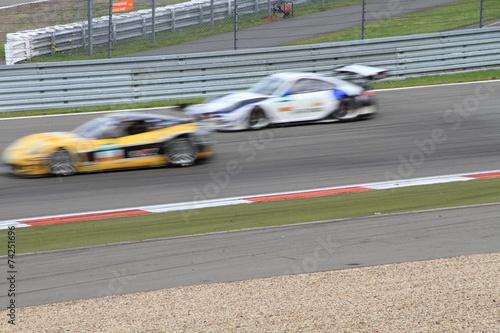 Foto op Canvas Motorsport zwei Tourenwagen