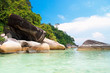 Blue Seascape Sunny Rocks