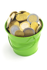 BUCKET FULL OF COINS 1