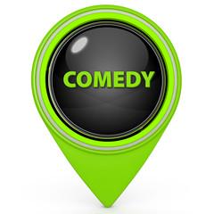 Comedy pointer icon on white background
