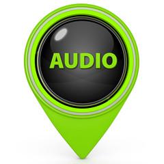 Audio pointer icon on white background