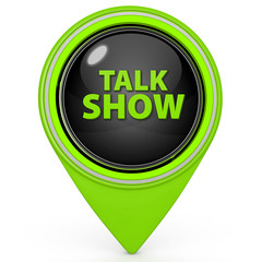 Talk Show pointer icon on white background