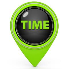 Time pointer icon on white background