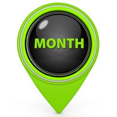 Month pointer icon on white background