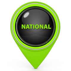 National pointer icon on white background