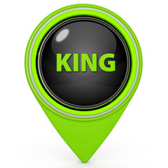 King pointer icon on white background