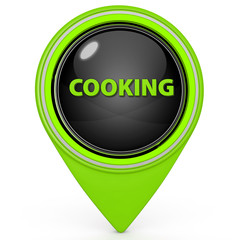 Cooking pointer icon on white background