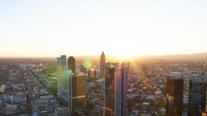 Timelapse Frankfurt sunset from maintower