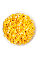 Boiled corn seeds