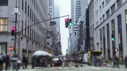 Timelapse Manhattan Downtown streets