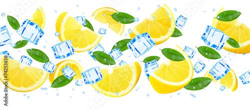 lemon and ice