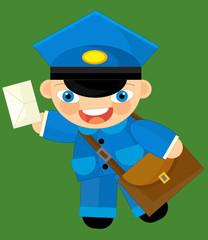 Cartoon character - postman