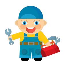 Cartoon character - mechanic