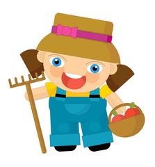 Cartoon character - gardener