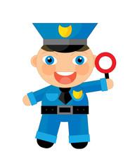 Cartoon character - policeman