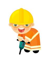 Cartoon character - construction worker