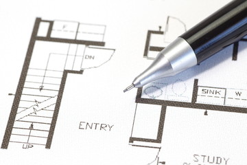 architectural plan technical project drawing