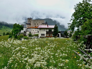 Austrian Alps-view of the castle Naudersberg