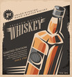 Whiskey vintage poster design template - 74255286