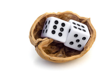 LUCK IS UNCERTAINTY - Two dices in a nutshell on a journey.