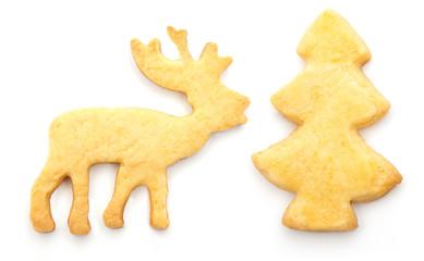 Weihnachtsplätzchen Hirsch und Tannenbaum