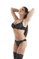 attraktive Frau in Unterwäsche