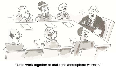"""""""Let's work together to make the atmosphere warmer."""""""
