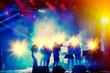 Leinwanddruck Bild - night concert