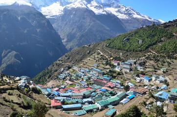Непал, Гималаи, селение Намче Базар в районе Кхумбу