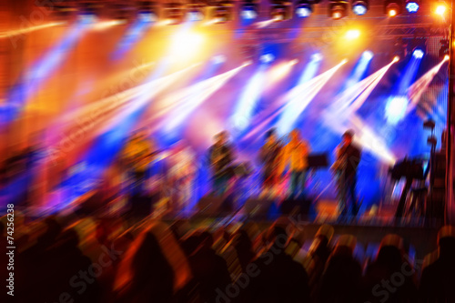 Leinwanddruck Bild night concert